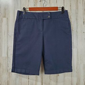 Ann Taylor Womens Shorts 6 Navy Blue Signature Fit